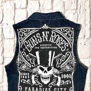 Other - Handmade Guns N' Roses Paradise City Denim Vest